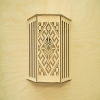 Sauna lamp shade, horizontal,