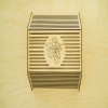 Sauna lamp shade, vertical,