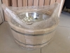Sauna bowl with stainless steel insert, 17L