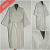 Women sauna dressing gown with a lace